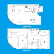 TOUCH悦城2室2厅2卫152平方米户型图