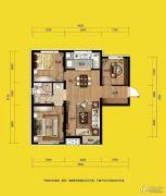 万科金域长春3室2厅1卫95平方米户型图
