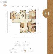 幸福湾3室2厅2卫126平方米户型图