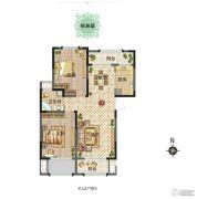 新田城2室2厅1卫0平方米户型图