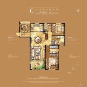 华新城�Z园4室2厅2卫139平方米户型图