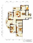 山水泉城4室2厅2卫198平方米户型图