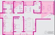 朗诗新郡3室2厅2卫137平方米户型图