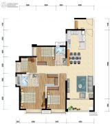时代水岸4室2厅2卫140平方米户型图