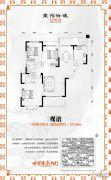 东陌映像3室2厅2卫127平方米户型图