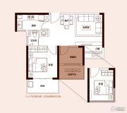 和昌湾景2室2厅1卫69平方米户型图