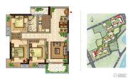 美景嘉园3室2厅1卫104平方米户型图