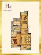 紫金艺境2室2厅2卫99平方米户型图