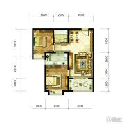 九宫馆2室2厅1卫87平方米户型图