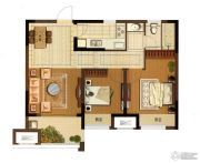 大华锦绣华城2室2厅1卫78平方米户型图