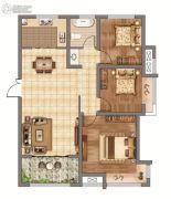 香榭里畔山兰溪3室2厅1卫116平方米户型图