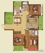 诚城・三英里3室2厅2卫134平方米户型图