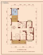 中凯华庭3室2厅2卫113平方米户型图