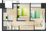 嘉隆国际广场3室2厅2卫0平方米户型图