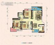 凯富南方鑫城3室2厅2卫110平方米户型图