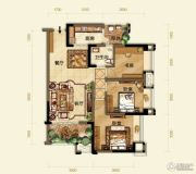 紫御江山3室2厅1卫0平方米户型图