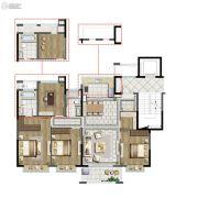 中国铁建青秀澜湾4室2厅2卫138平方米户型图