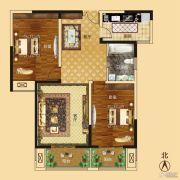 新龙御都国际2室2厅1卫111平方米户型图
