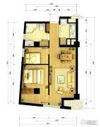 北大资源海港城2室2厅1卫63平方米户型图