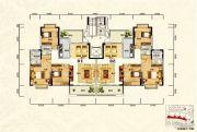 天鹅湾3室2厅2卫129平方米户型图