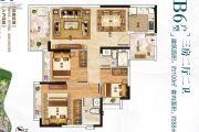 保利翡翠山3室2厅2卫109平方米户型图