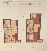 同协金座2室2厅2卫0平方米户型图