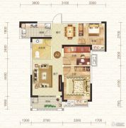 钓鱼台二期3室2厅1卫91平方米户型图