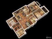 燕南山庐3室2厅2卫126平方米户型图