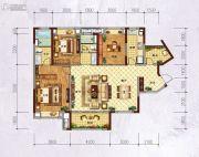 万科城・城果3室2厅2卫129平方米户型图