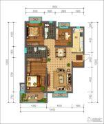 同美生活区3室2厅2卫126平方米户型图