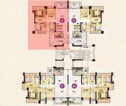 中澳滨河湾2室2厅2卫117平方米户型图