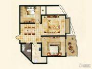 东方红名仕嘉园2室2厅1卫89平方米户型图