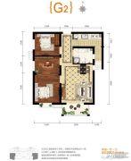 上上城青年社区二期2室1厅1卫89平方米户型图