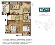 招商兰溪谷2室2厅1卫0平方米户型图