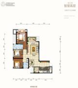 金科天元道2室2厅2卫82平方米户型图