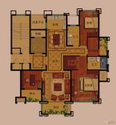 公元世家4室2厅3卫160平方米户型图