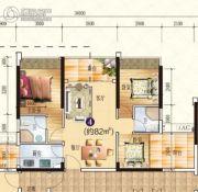 星海湾华庭3室2厅0卫82平方米户型图
