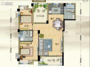 博大江山如画二期2室2厅1卫117--118平方米户型图