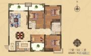 美伦・香颂3室3厅2卫130平方米户型图