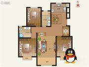 豪第坊3室2厅2卫132平方米户型图