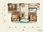 凤凰星城3室2厅1卫95--120平方米户型图