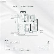 雅居乐锦城3室2厅2卫107平方米户型图
