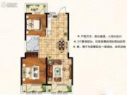 天翔茗苑2室2厅1卫102平方米户型图