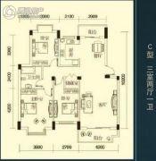 三清・国际华城3室2厅1卫109平方米户型图