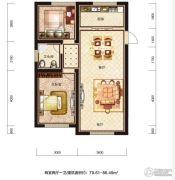 恒威滨江国际2室2厅1卫79--86平方米户型图