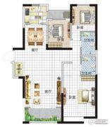 亚星盛世4室2厅2卫144平方米户型图