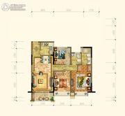 黄岩中梁香缇公馆3室2厅2卫99平方米户型图