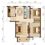 燕赵锦河湾2室2厅1卫95平方米户型图