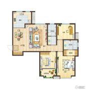 依云小镇3室2厅2卫136平方米户型图