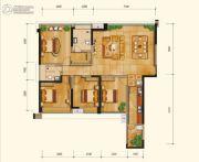 永立星城都4室2厅2卫137平方米户型图